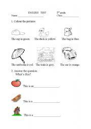 Test 12 Grade English Worksheets Further Worksheets For Grade 2 ...