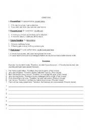 English Worksheets: Conditions
