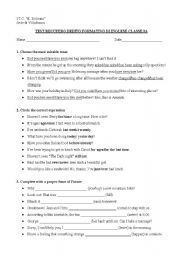 English Worksheets: test business