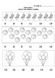 Printables Number Identification Worksheets number identification worksheets plustheapp how many circle the you can work on numbers and