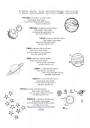 English Worksheets: Solar System and planet