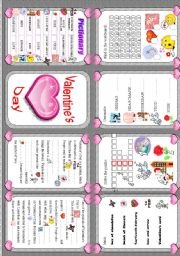 English Worksheet: Valentine´s day - minibook