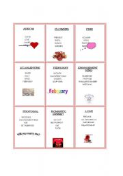 English Worksheet: St.Valentine´s taboo game