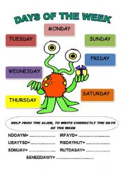 FROU, THE ALIEN AND THE DAYS OF THE WEEK
