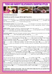 English Worksheet: TEENS AND PARENTS´ RELATIONSHIPS: PARENTING STYLES