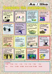 English Worksheets: AS OR LIKE