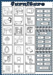 English Worksheets: furniture (2)