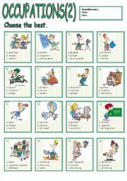 English Worksheet: Occupations2