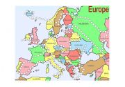 English Worksheet: Countries of Europe reward/point sheet/board game