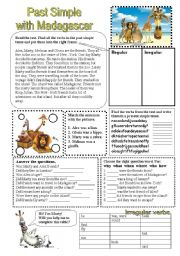 English Worksheet: Past Simple with Madagascar.