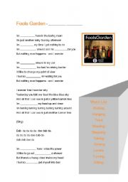 English Worksheet: Lemon Tree - Song Gap Fill Worksheet