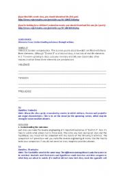 English Worksheets: Movie District 9 part 2