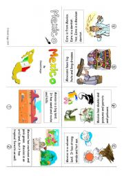 English Worksheet: Mini Book 11: Mexico in colour and greyscale