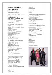 English Worksheets: The Time, Black eyed peas
