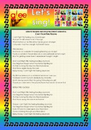 English Worksheet: GLEE SERIES � SONGS FOR CLASS! S01E01 � FOUR SONGS � FULLY EDITABLE WITH KEY!