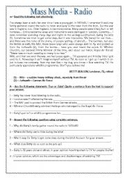 English Worksheet: Mass Media-Radio - 10th Grade