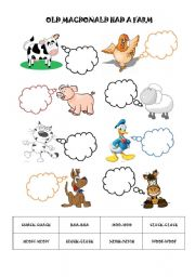 English Worksheet: Old Macdonald had a farm