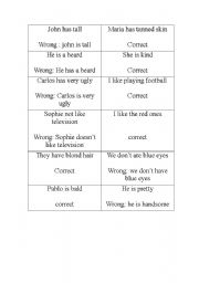 English Worksheets: oral error mistake activity