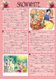 English Exercises: Snow White