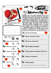 English Worksheets: RC Series_Love Edition_01 Valentine´s Day (Fully Editable + Key)