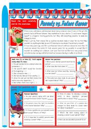 Parents vs. Career – Reading Comprehension + discussion [3 tasks] ***editable