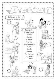 English Worksheets: Action