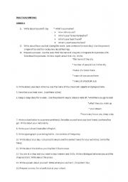English Worksheets: practical writing topics - 4th-8th