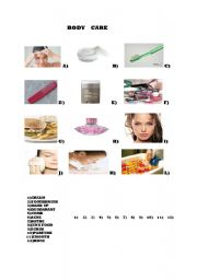 English Worksheets: bodycare products