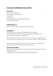 english worksheets character confidence lesson plan. Black Bedroom Furniture Sets. Home Design Ideas