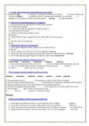 English Worksheets: worsheet