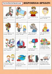English Worksheet: REPORTED (INDIRECT) SPEECH