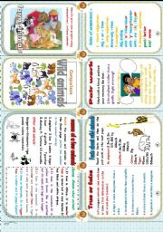 English Worksheets: another minibook : comparison and animals.