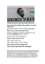 English Worksheet: Benetton, death penalty and ethics