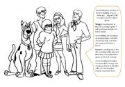 English Worksheets: Scooby Doo- colouring clothes