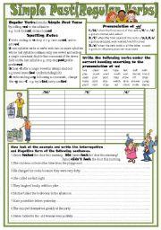 English Worksheet: Simple Past(Regular Verbs)