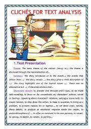 English Worksheets: Cliches for Text Analysis