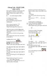 English worksheet: fight for this love -song activity-