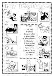 English Worksheets: My Routine