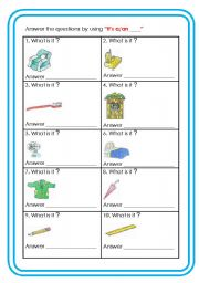 English Worksheets: What is it ?