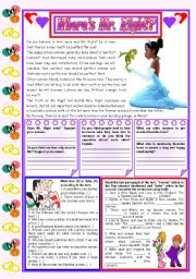 English Worksheets: Where�s Mr. Right? � Reading Comprehension + Grammar (the former, the latter) [3 tasks] ***editable