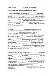 English Worksheets: Looking for Alibrandi