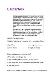 English Worksheets: Carpenters