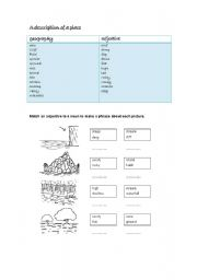 English Worksheets: description of a pace