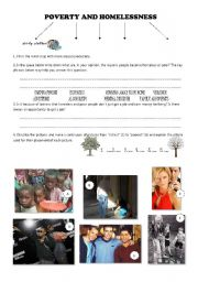 3-page POVERTY AND HOMELESSNESS + SONG worksheet