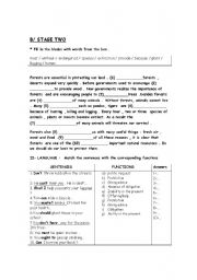 English Worksheet: the 3rd and the last part of the