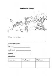 Moon Festival Worksheet Kindergarten