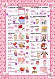 English Worksheet: Valentine's Day words