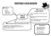 English Worksheets: writing a film review_layout