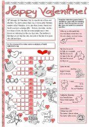 English Worksheet: Happy Valentine!