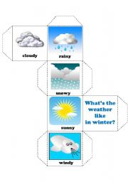 English Worksheets: dice- weather